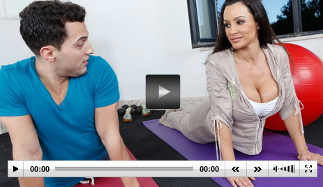 Sex-Yoga for busty babe