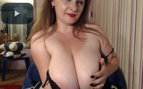 Milf boobs on a cam